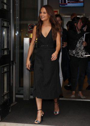 Alicia Vikander In Black Dress Out In London Gotceleb