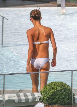 Alicia Vikander in White Bikini 2016 -04