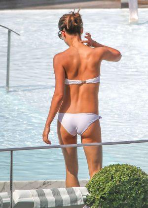 Alicia Vikander in White Bikini 2016 -69