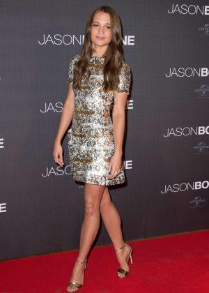 Alicia Vikander - 'Jason Bourne' Premiere in Paris