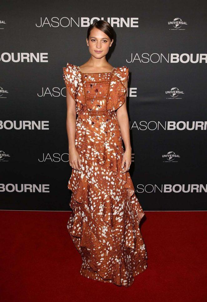 Alicia Vikander - 'Jason Bourne' Premiere in Sydney