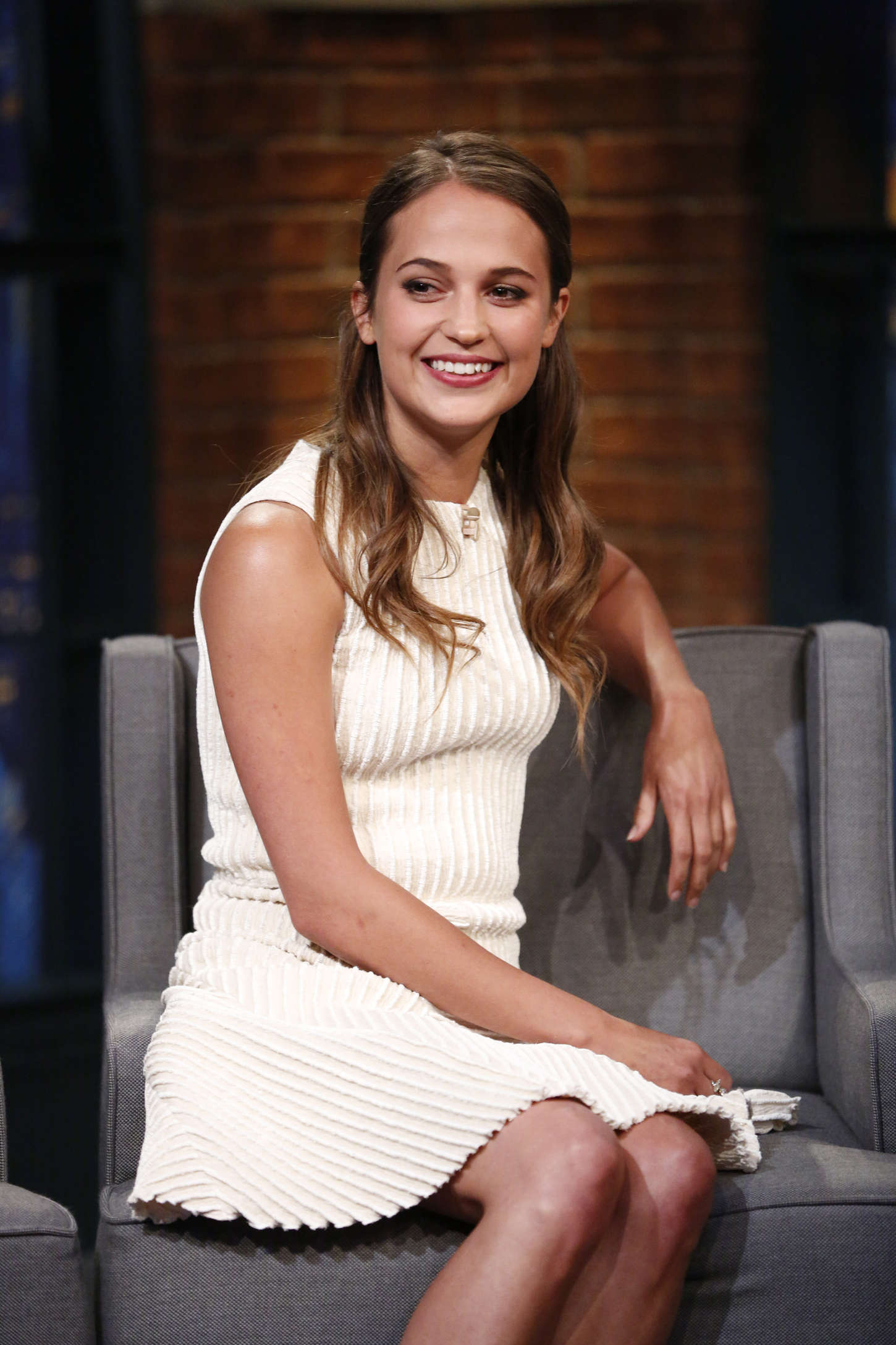 Alicia Vikander - 'Late Night with Seth Meyers' in NYC