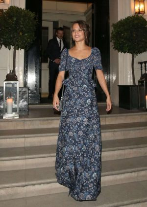 Alicia Vikander - Leaves Morton's Private Club in London