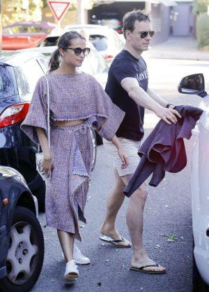 Alicia Vikander - Leaving Chiswick Restaurant in Sydney