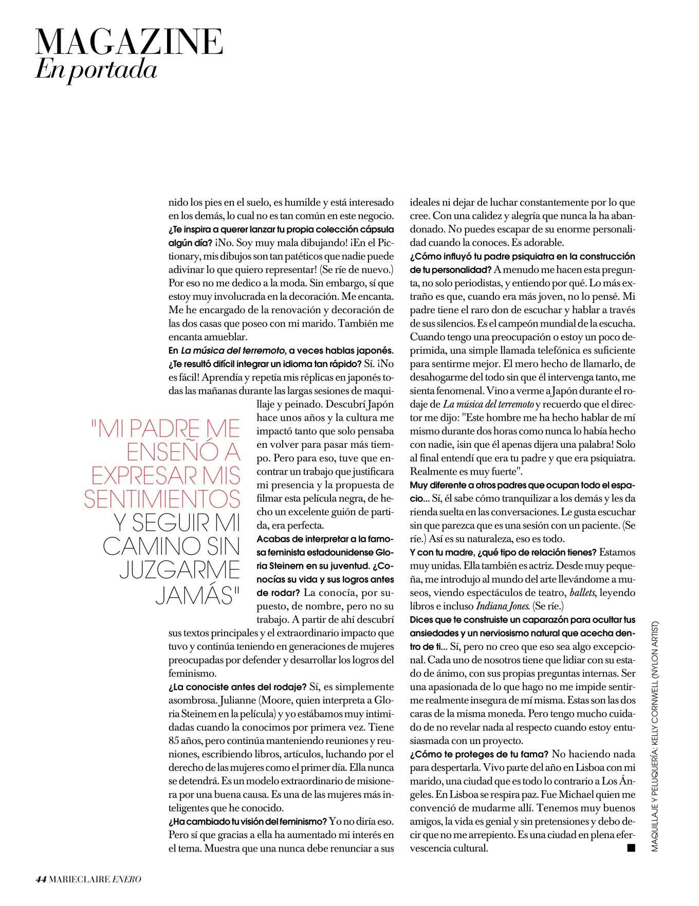Alicia Vikander 2019 : Alicia Vikander – Marie Claire Espana 2020-02