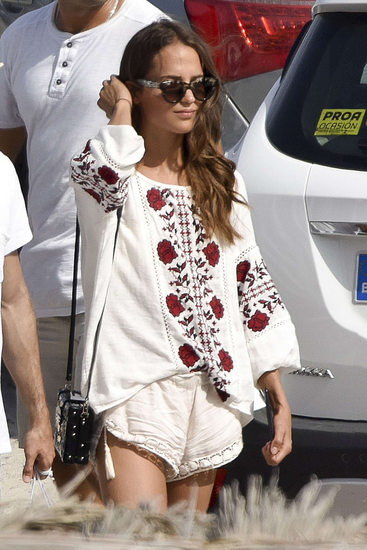 Alicia Vikander On The Beach In Ibiza Gotceleb