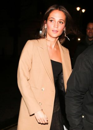 Alicia Vikander out in London