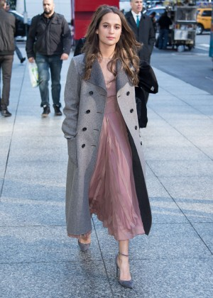 Alicia Vikander - Out in NYC