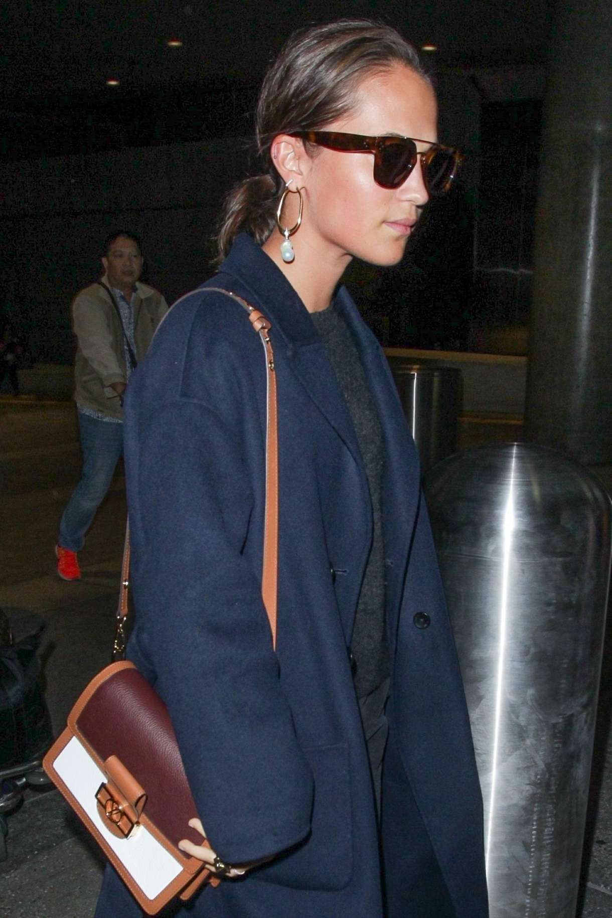 Alicia Vikander – Seen at LAX in Los Angeles