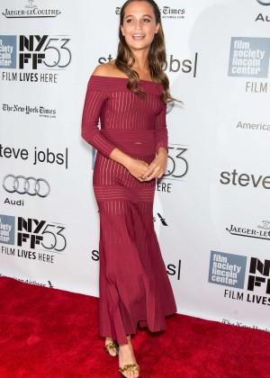 Alicia Vikander - 'Steve Jobs' Premiere at 53rd New York Film Festival in NYC