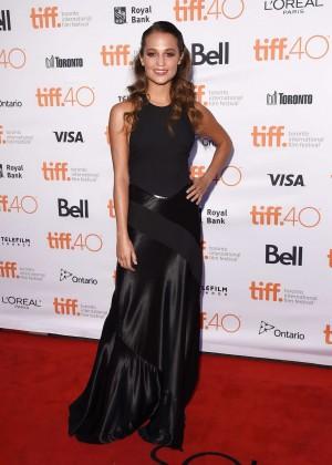 Alicia Vikander - 'The Danish Girl' Premiere at 2015 TIFF in Toronto