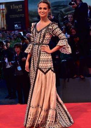 Alicia Vikander - 'The Danish Girl' Premiere in Venice