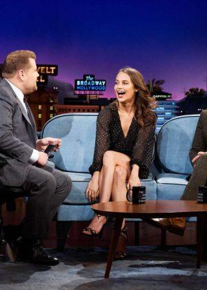 Alicia Vikander - 'The Late Late Show with James Corden' in LA