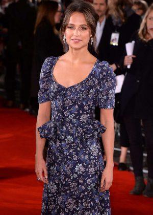 Alicia Vikander - The Light Between Oceans Screening In London