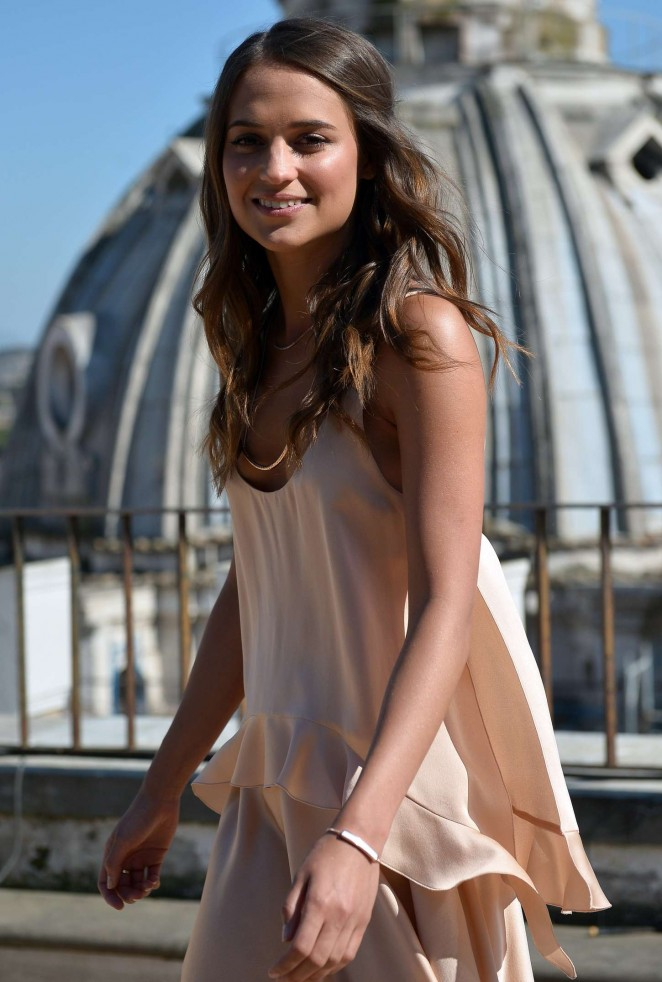 Alicia Vikander - 'The Man From U.N.C.L.E.' Photocall in Rome