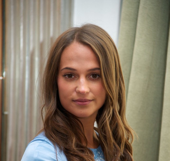 Alicia Vikander - The Man from UNCLE London Press Conference