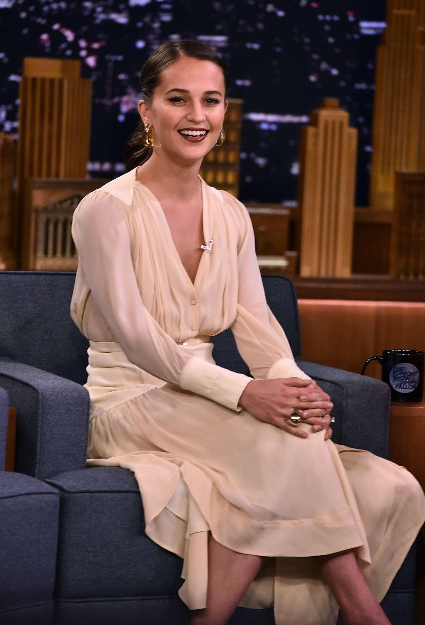 Alicia Vikander - 'The Tonight Show Starring Jimmy Fallon' in NYC