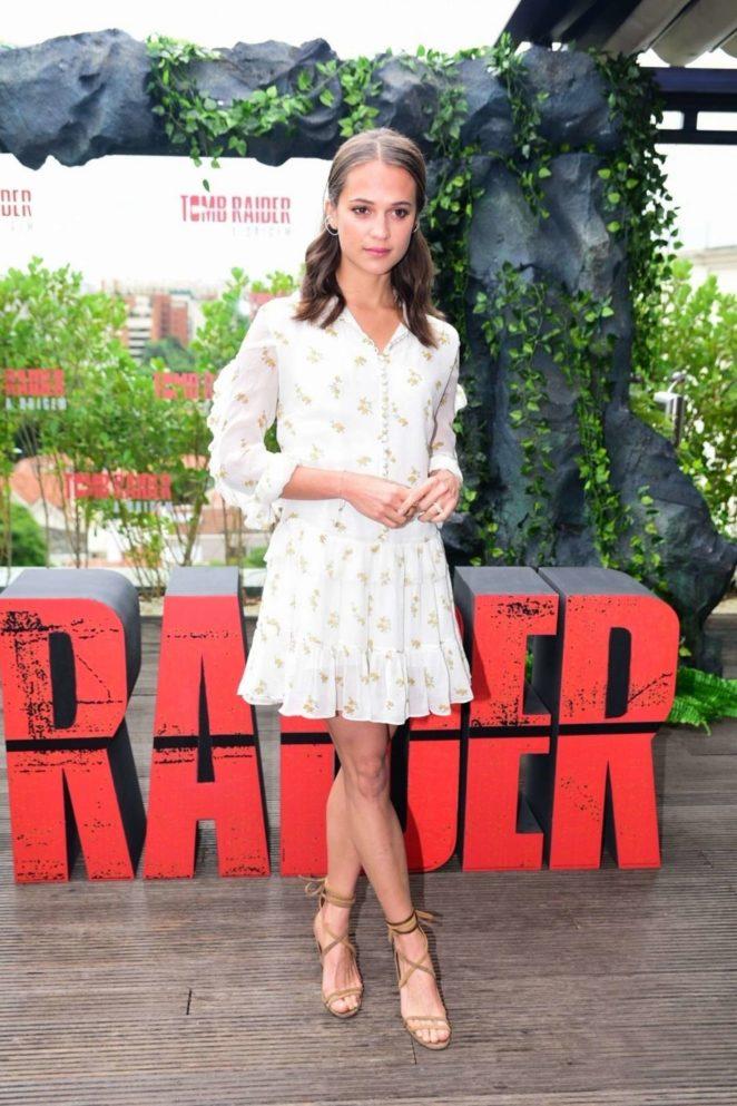 Alicia Vikander - 'Tomb Raider' Photocall at Comic Con Experience in Sao Paulo