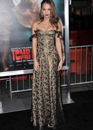 Alicia Vikander - 'Tomb Raider' Premiere in Hollywood