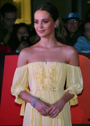 Alicia Vikander - 'Tomb Raider' Premiere in Mexico