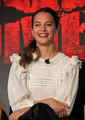 Alicia Vikander - 'Tomb Raider' Press Conference in Los Angeles