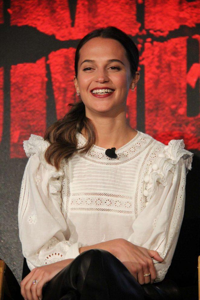 Alicia Vikander - 'Tomb Raider' Press Conference in Los Angeles