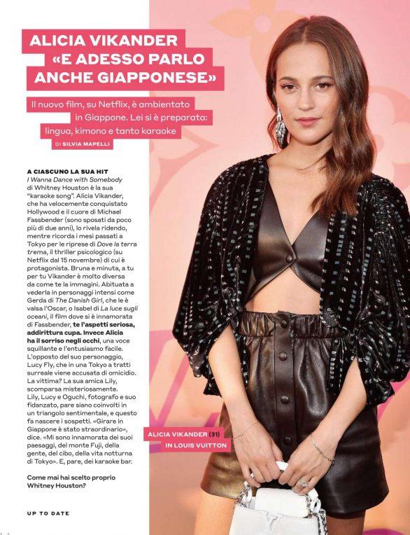 Alicia Vikander - Tu Style Magazine (November 2019)