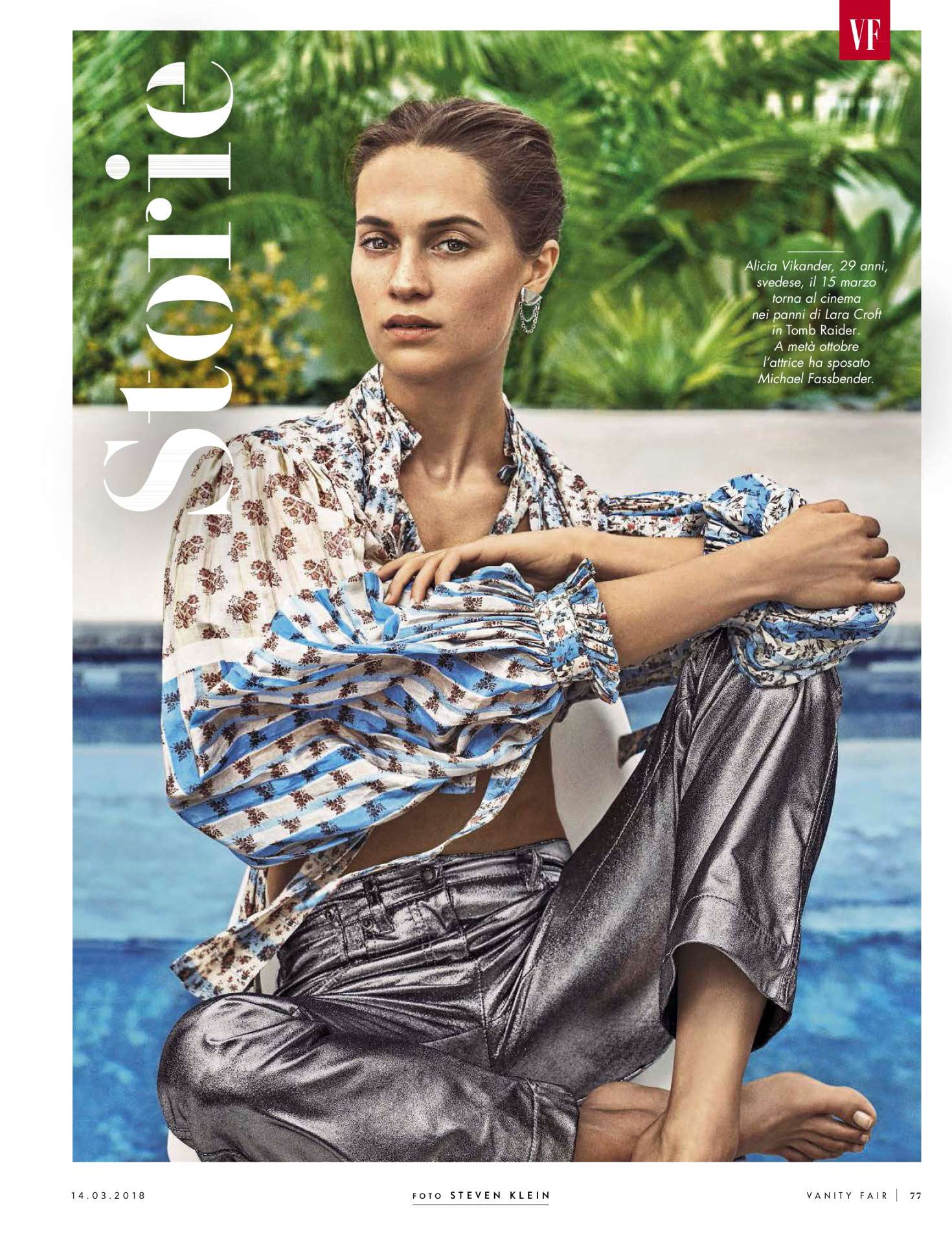 Alicia Vikander Vanity Fair Italy Magazine March 2018