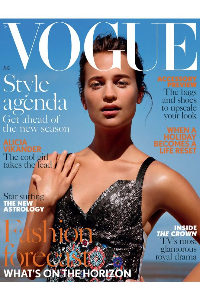 Alicia Vikander - Vogue UK Cover (August 2016)