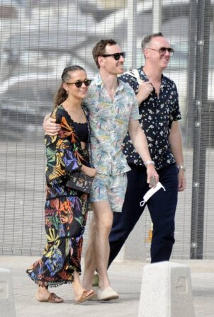 Alicia Vikander - With Michael Fassbender seen in Ibiza