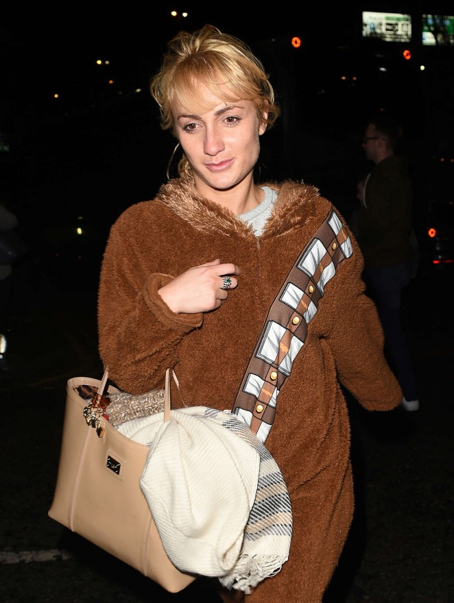 Aliona Vilani at her hotel in Sheffield