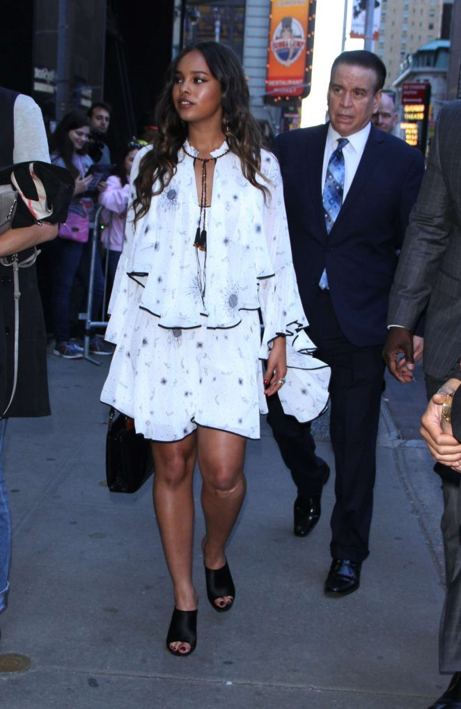 Alisha Boe - Arrives at Good Morning America in NYC