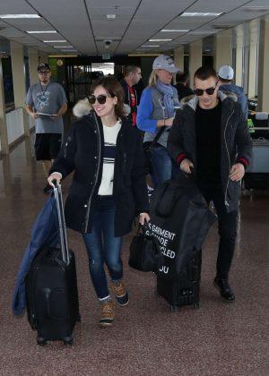 Alison Brie - Arriving at Salt Lake City Airport