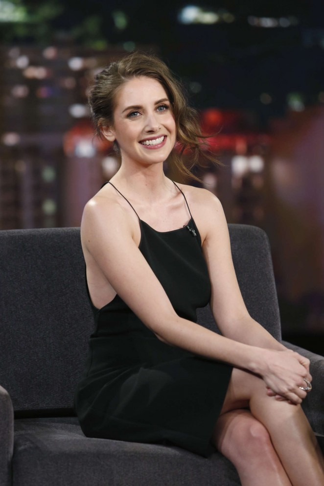 Alison Brie at 'Jimmy Kimmel Live' in LA