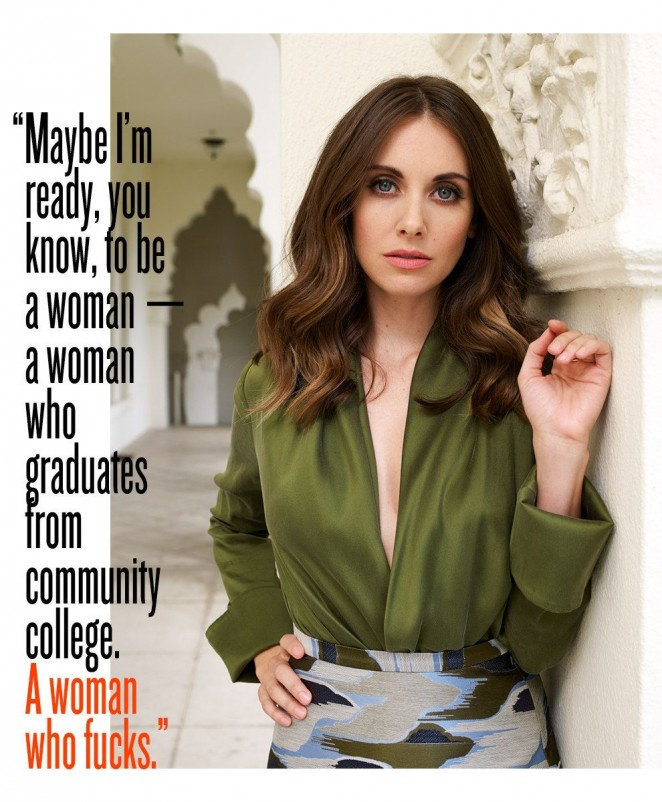 Alison Brie – Buzzfeed Article Photoshoot