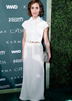 Alison Brie - CFDA Variety and WWD Runway to Red Carpet in LA