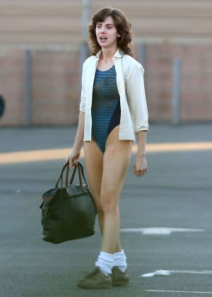 Alison Brie: Filming G L O W in Los Angeles-02