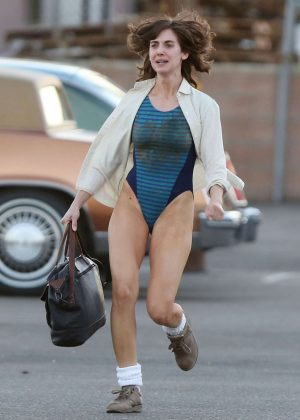 Alison Brie: Filming G L O W in Los Angeles-03