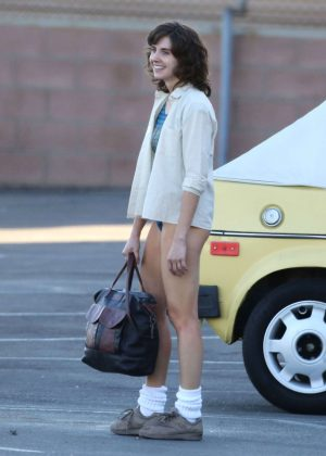 Alison Brie: Filming G L O W in Los Angeles-06