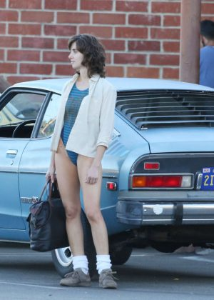 Alison Brie: Filming G L O W in Los Angeles-07