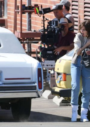 Alison Brie: Filming G L O W in Los Angeles-08
