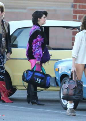 Alison Brie: Filming G L O W in Los Angeles-09