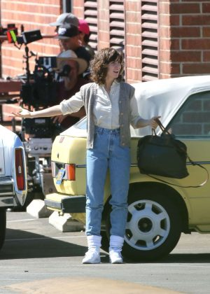 Alison Brie: Filming G L O W in Los Angeles-10