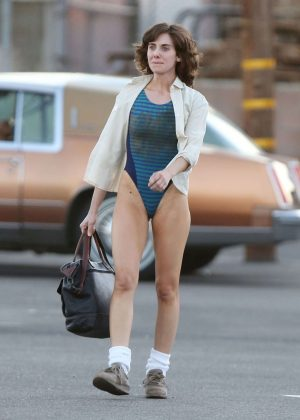 Alison Brie: Filming G L O W in Los Angeles-11