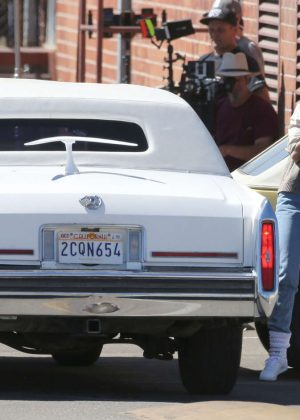 Alison Brie: Filming G L O W in Los Angeles-14