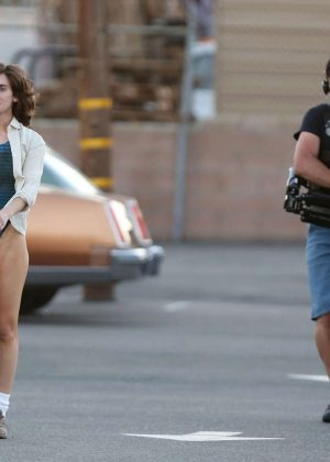 Alison Brie: Filming G L O W in Los Angeles-15