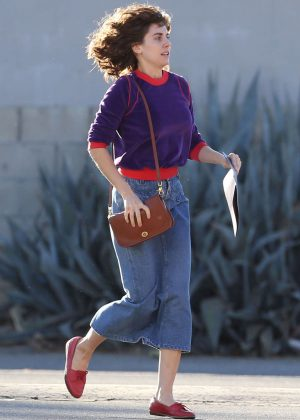 Alison Brie: Filming G L O W in Los Angeles-18