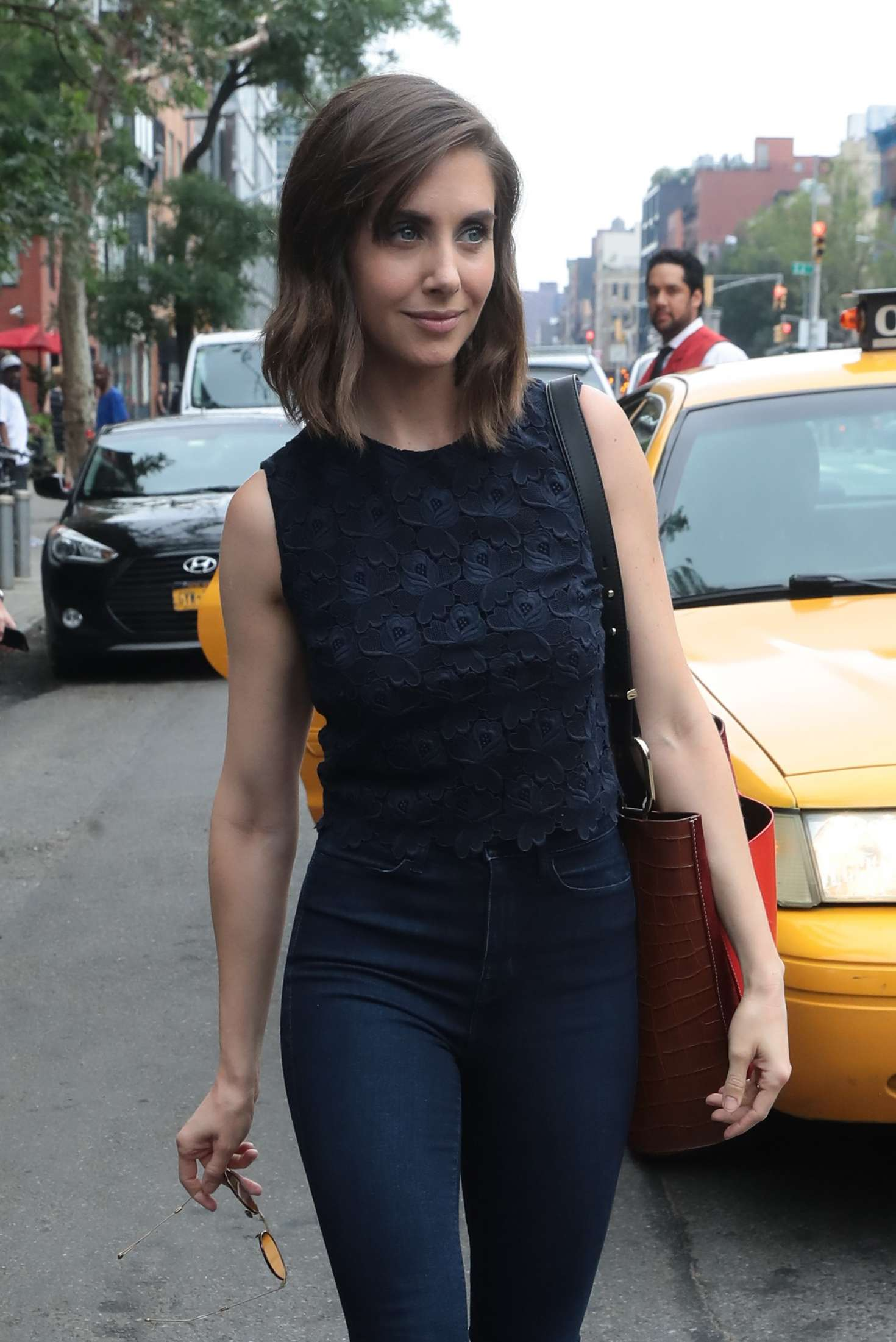 Alison Brie - Out and about in New York City