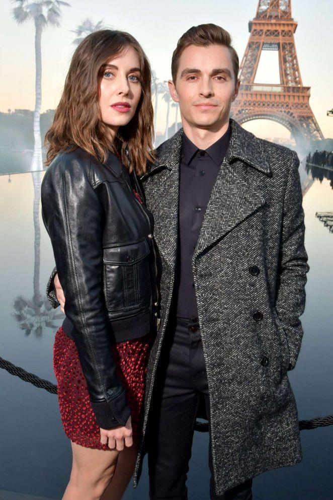 Alison Brie - Saint Laurent Fashion Show in Paris