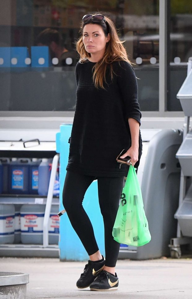 Alison King - Shopping at a petrol station in Cheshire